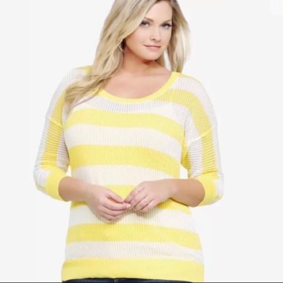 Torrid 1 Size 14/16 Stretch Striped Knit Sweater